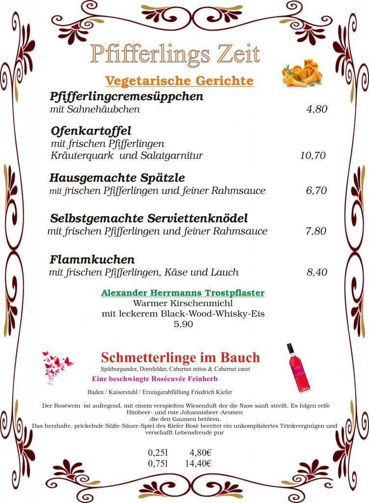 Speisenkarte – Krabba-Nescht Holzbronn